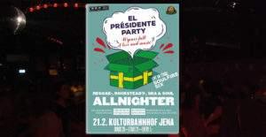 El Presidente Party .. Rocksteady Lions Jena .. Offbeatclub Jena am 21.02.2020 im Kulturbahnhof Jena