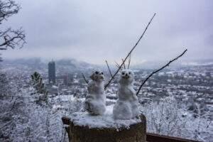 Jena: Frisch verliebt im Schnee, Martina und Martin.