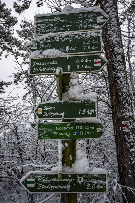 Schnee in Jena, zu Beginn des Jahres