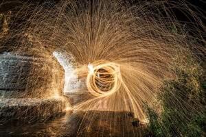 firework steel wool