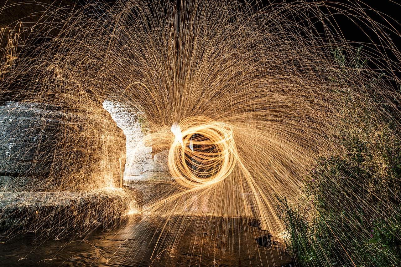 Lightpainting bewegte Dinge mit Licht, Foto: Jenafotografx.de